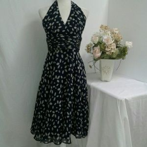 Suzi Chen Maggy Boutique Silk Dress Navy women 10